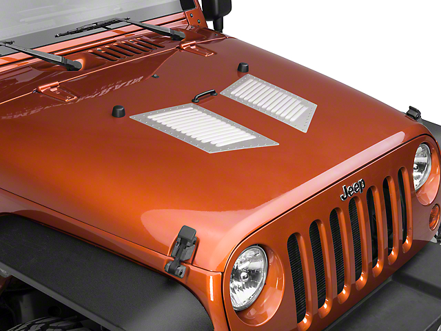 RedRock 4x4 Medium Hi-Flow Louvers - Natural Aluminum w/ Stainless Rivets (87-19 Jeep Wrangler YJ, TJ, JK & JL)