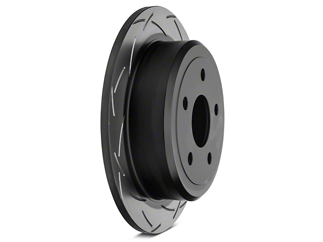 DBA T3 4000 Series Slotted Rotor; Rear Pair (07-12 Jeep Wrangler JK)