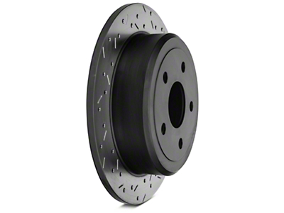 DBA XS 4000 Series Drilled/Slotted Rotor - Black Hub - Rear Pair (07-12 Jeep Wrangler JK)
