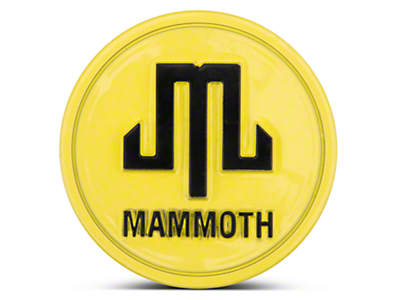 Mammoth Yellow Center Cap (87-18 Wrangler YJ, TJ, JK & JL)
