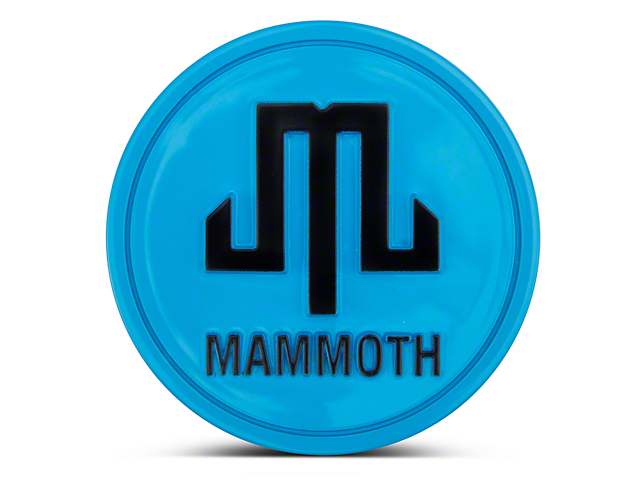 Mammoth Blue Center Cap (87-19 Jeep Wrangler YJ, TJ, JK & JL)