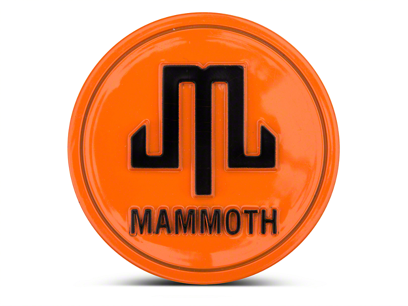 Mammoth Orange Center Cap (87-19 Jeep Wrangler YJ, TJ, JK & JL)