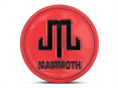 Mammoth Red Center Cap (87-18 Wrangler YJ, TJ & JK)