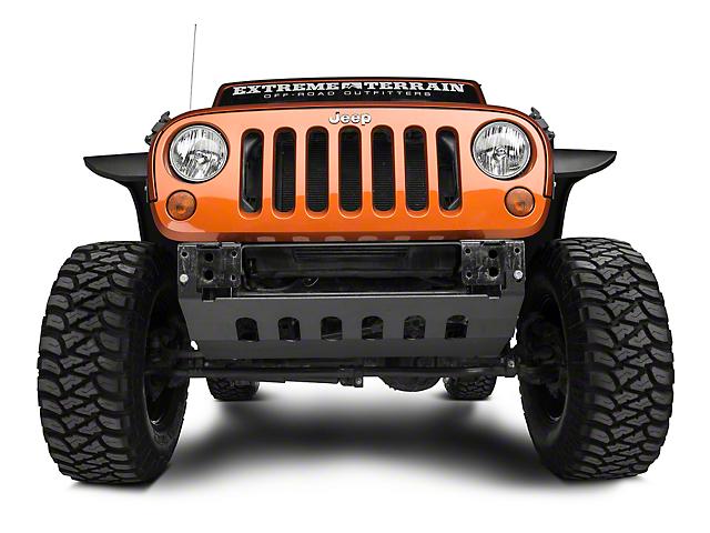 Barricade Front Skid Plate; Textured Black (10-18 Jeep Wrangler JK)