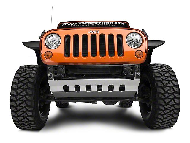 Barricade Front Skid Plate; Stainless Steel (10-18 Jeep Wrangler JK)