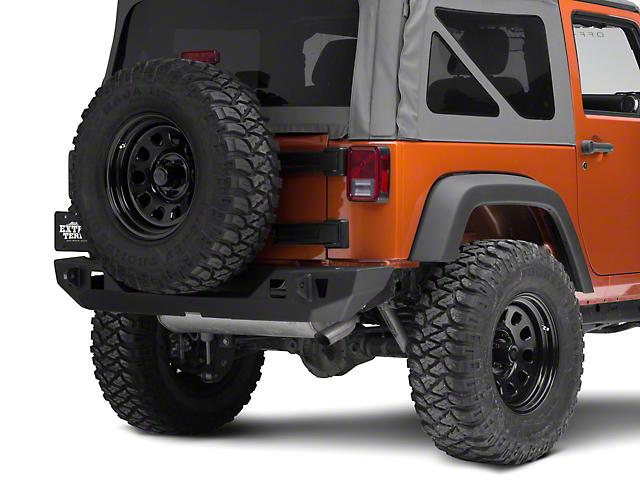 JCR Off Road Crusader Rear Mid Width Bumper Powder Coated (07-18 Jeep Wrangler JK)
