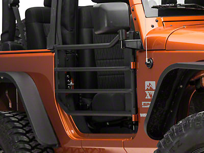 Barricade Front Adventure Doors - Textured Black (07-17 Wrangler JK)