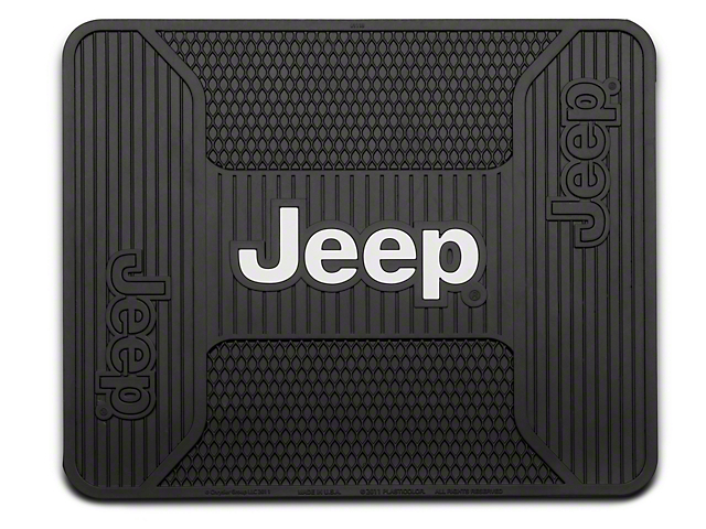 Alterum Jeep Logo Elite Rear Utility Floor Mat (87-17 Wrangler YJ, TJ & JK)