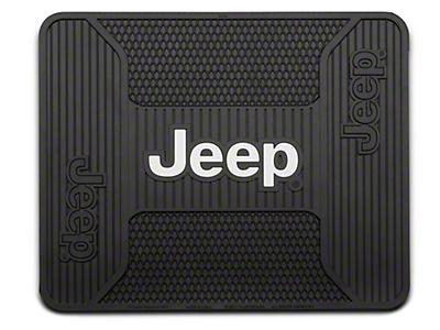 Alterum Jeep Logo Elite Rear Utility Floor Mat (87-18 Wrangler YJ, TJ & JK)
