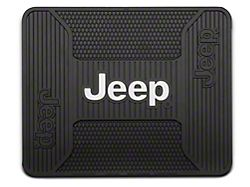 Alterum Jeep Logo Elite Rear Utility Floor Mat - Black (87-19 Jeep Wrangler YJ, TJ, JK & JL)