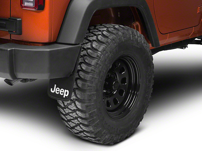 redrock 4x4 wrangler jeep logo easy fit mud guard 9x15. Black Bedroom Furniture Sets. Home Design Ideas