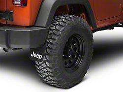 Easy Fit Mud Guards with Jeep Logo; 9-Inch x 15-Inch (66-21 Jeep CJ5, CJ7, Wrangler YJ, TJ, JK & JL)