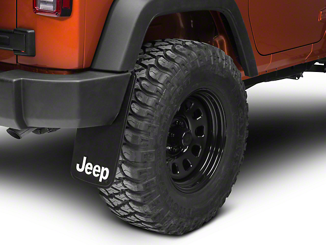 RedRock 4x4 Jeep Logo Easy Fit Mud Guard 11x19 (87-20 Jeep Wrangler YJ, TJ, JK & JL)