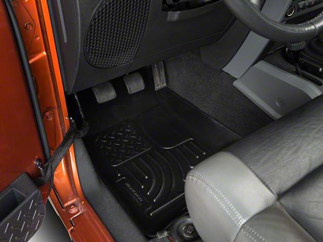 WeatherBeater Front Floor Liners; Black (07-13 Jeep Wrangler JK)
