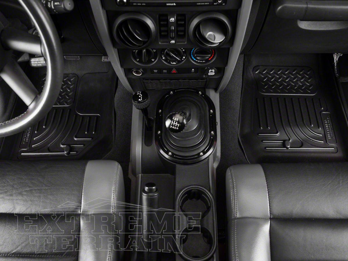 Husky Liners Weatherbeater Front Floor Mats fit 2007-2013 Jeep Wrangler BLACK