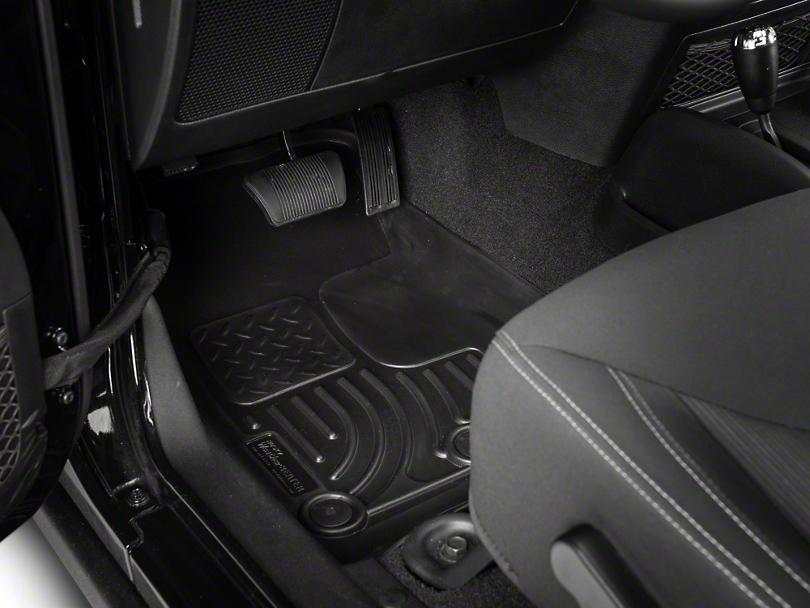Husky Weatherbeater Front Floor Liners - Black (14-18 Jeep Wrangler JK)