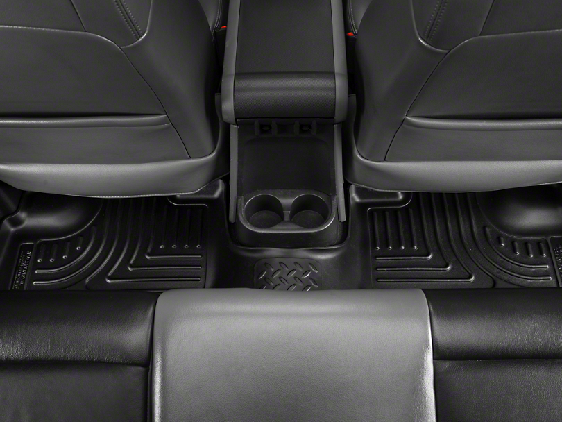 Husky Weatherbeater Rear Floor Liners - Black (11-18 Jeep Wrangler JK 4 Door)