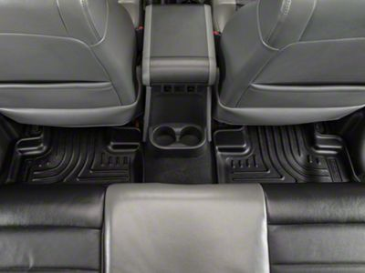 Husky Weatherbeater Rear Floor Mats - Black (11-18 Jeep Wrangler JK 2 Door)