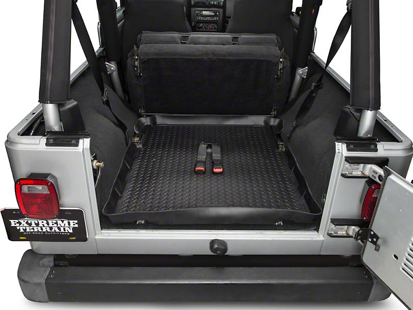 Husky Classic Cargo Liner   Black (04 06 Jeep Wrangler TJ Unlimited)