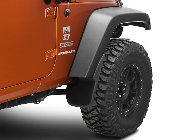Husky Custom Molded Mud Guards; Front (07-18 Jeep Wrangler JK)