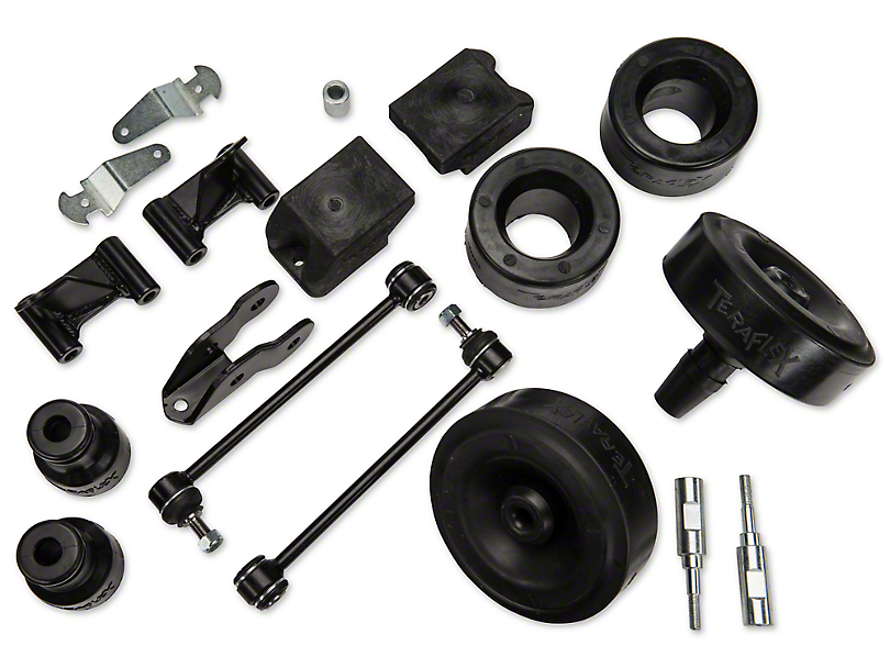 Teraflex 2.5 in. Performance Budget Boost Kit w/o Shocks w/Adapters (07-18 Wrangler JK)