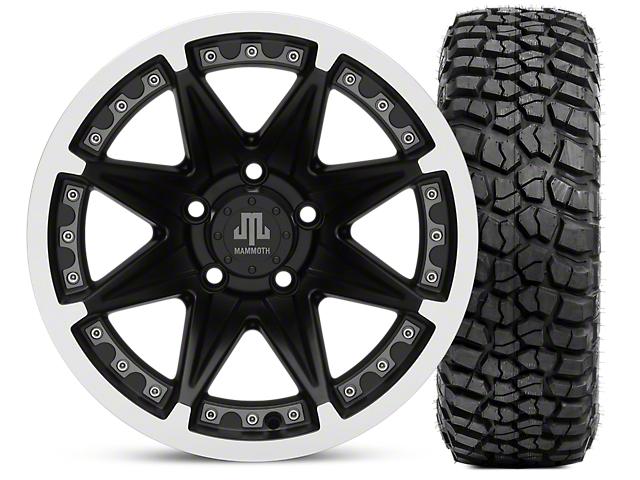 Mammoth Type 88 Matte Black 15x8 Wheel & BFG KM2 33x10.5- 15 Tire Kit (87-06 Jeep Wrangler YJ & TJ)