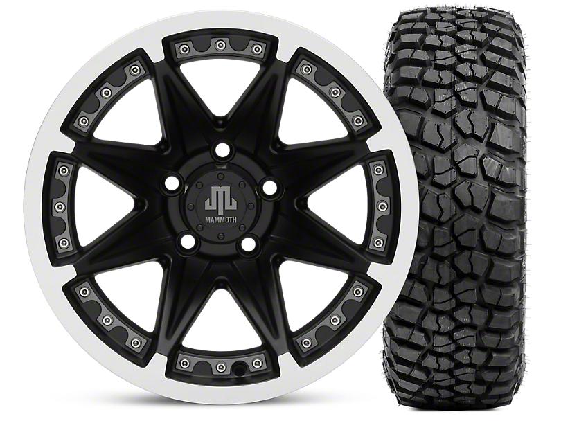 Mammoth Type 88 Matte Black 15x8 Wheel & BFG KM2 35x12.5- 15 Tire Kit (87-06 Wrangler YJ & TJ)