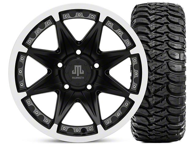 Mammoth Type 88 Matte Black 16x8 Wheel and Mickey Thompson Baja MTZ 315/75R16 Tire Kit (07-18 Jeep Wrangler JK)