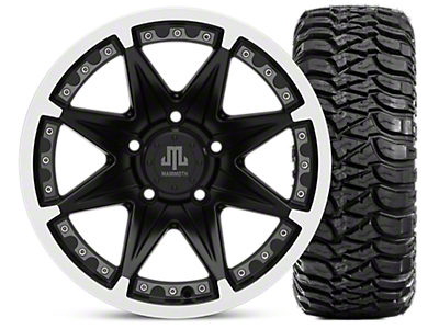 Mammoth Type 88 Wheel - Matte Black Wheel - 16x8 Wheel - and Mickey Thompson Baja MTZ 315/75-16 (07-18 Jeep Wrangler JK; 2018 Jeep Wrangler JL)