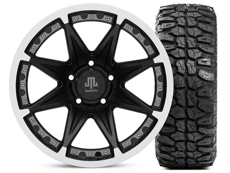 Mammoth Type 88 Wheel - Matte Black Wheel - 17x9 and Mudclaw Radial 265/70-17 (07-18 Jeep Wrangler JK; 2018 Jeep Wrangler JL)