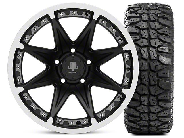Mammoth Type 88 Wheel - Matte Black Wheel - 17x9 & Mudclaw Radial 35x12.5- 17 (07-18 Wrangler JK; 2018 Wrangler JL)