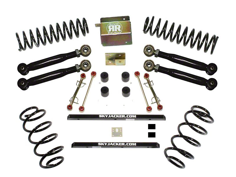 SkyJacker 2.5 in. Value Flex Lift Kit w/o Shocks (03-06 Jeep Wrangler TJ Rubicon)