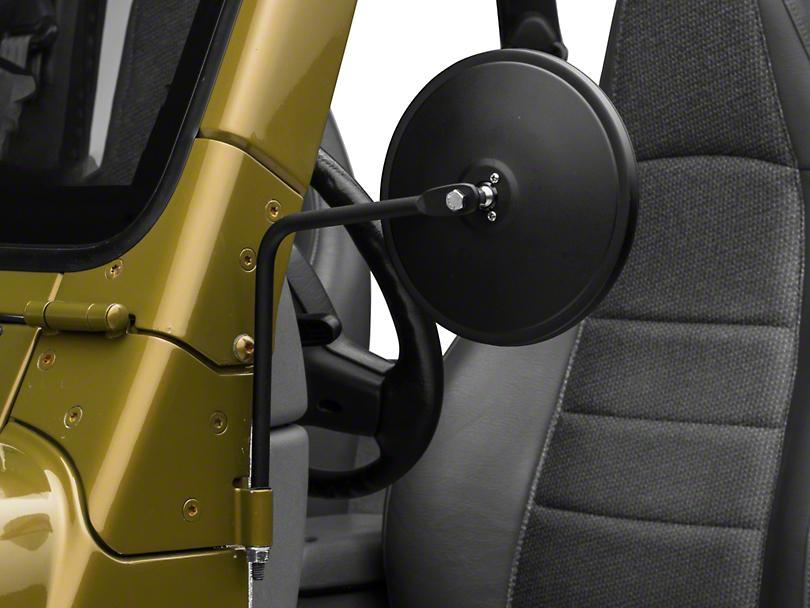 Barricade Round Adventure Mirrors - Textured Black (87-06 Jeep Wrangler YJ & TJ)