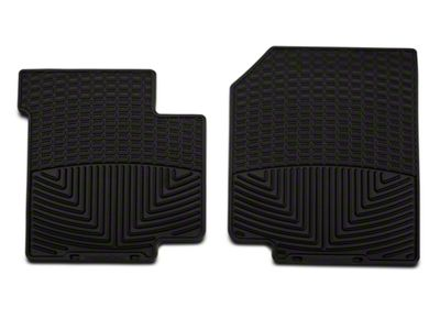 Weathertech All Weather Front Rubber Floor Mats - Black (87-95 Jeep Wrangler YJ)