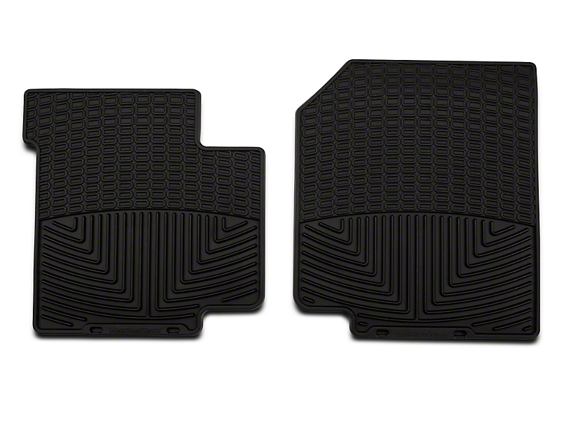 Weathertech All Weather Front Rubber Floor Mats - Black (87-95 Wrangler YJ)