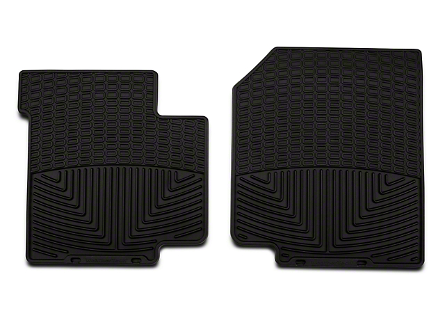 Weathertech All-Weather Front Rubber Floor Mats; Black (87-95 Jeep Wrangler YJ)
