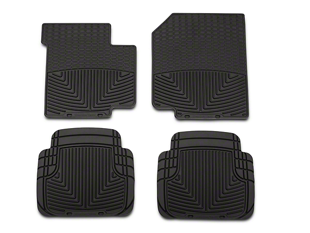 Weathertech All Weather Front & Rear Rubber Floor Mats - Black (87-95 Jeep Wrangler YJ)