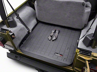 Weathertech DigitalFit Cargo Liner - Black (03-06 Wrangler TJ, Excluding Unlimited)