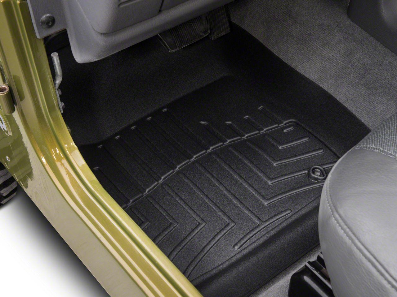 Weathertech DigitalFit Front & Rear Floor Liners - Black (97-06 Jeep Wrangler TJ)