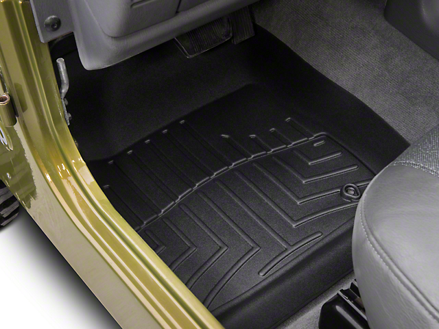Weathertech DigitalFit Front & Rear Floor Liners - Black (97-06 Jeep Wrangler TJ)
