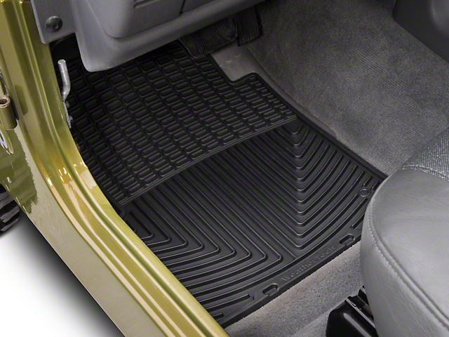 Weathertech All-Weather Front and Rear Rubber Floor Mats; Black (97-06 Jeep Wrangler TJ)