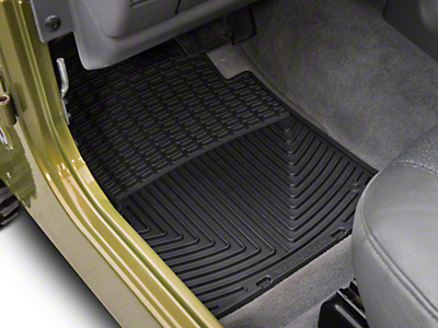 Weathertech All Weather Front & Rear Rubber Floor Mats - Black (97-06 Wrangler TJ)