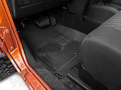 Husky X-Act Contour Front Floor Liners - Black (07-18 Jeep Wrangler JK)
