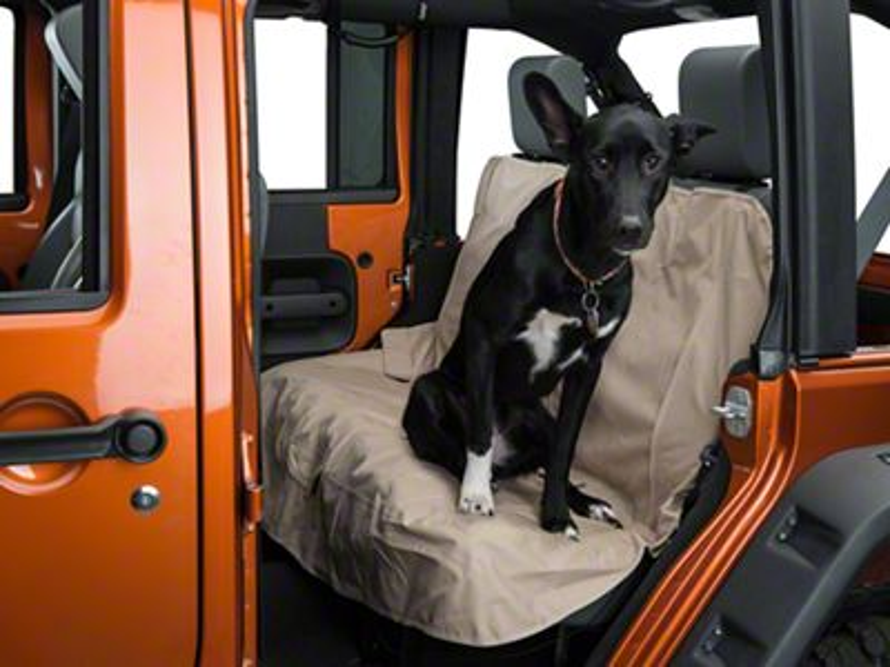 Kurgo Pet Bench Seat Cover - Khaki (87-19 Jeep Wrangler YJ, TJ, JK & JL)
