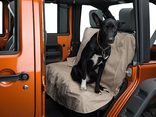 Kurgo Pet Bench Seat Cover - Khaki (87-18 Jeep Wrangler YJ, TJ, JK & JL)