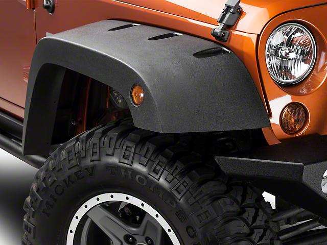 Jeep Wrangler Fenders >> Barricade Jeep Wrangler Rivet Style Fender Flares J102427 07 18