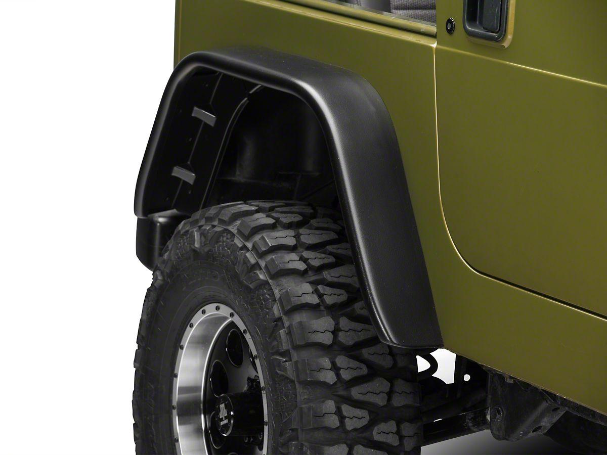 Barricade Flat Style Fender Flares (97-06 Jeep Wrangler TJ)