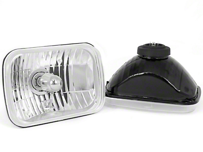 Rugged Ridge 200MM Rectangular Crystal H2 Conversion Headlights (87-95 Wrangler YJ)