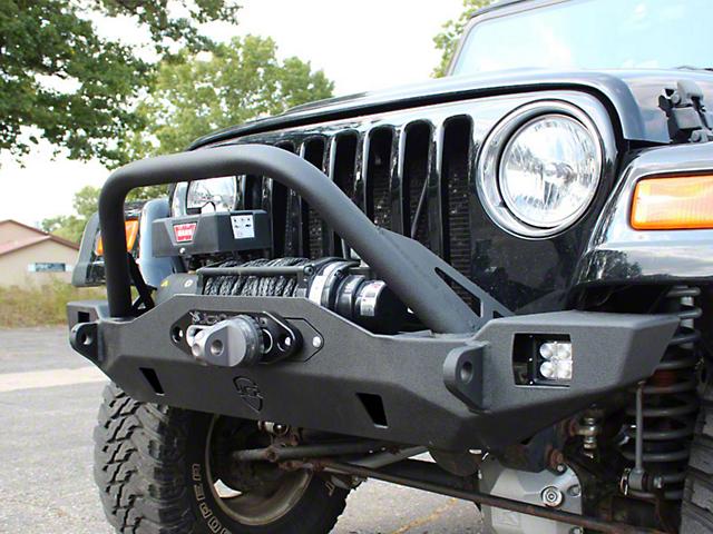 JCR Off Road Crusader Mid Width PreRunner Front Winch Bumper (97-06 Jeep Wrangler TJ)