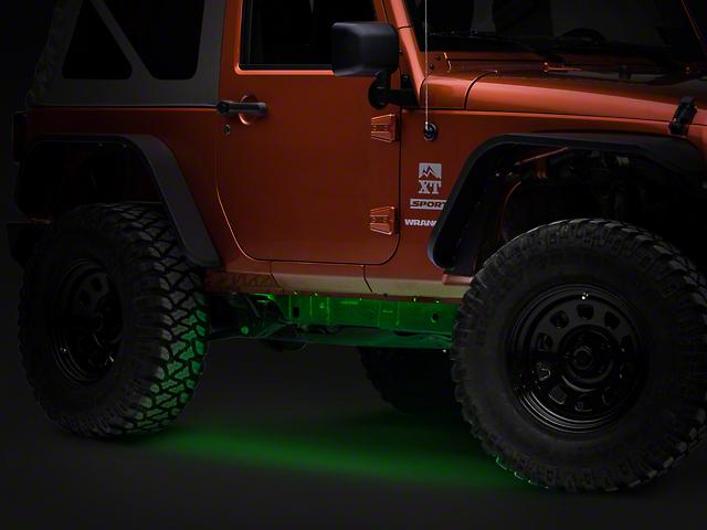 Axial Flexible LED Strip 36 in. - Green (87-18 Jeep Wrangler YJ, TJ, JK & JL)